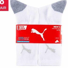 Puma Men's Crew Sock, 8 pair